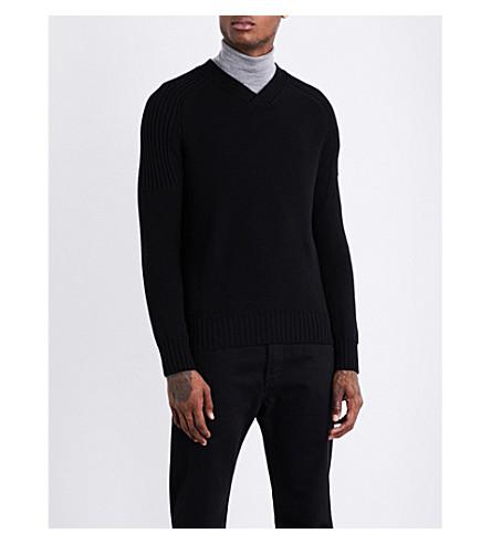 CANADA GOOSE Valemount V-neck wool jumper (Black