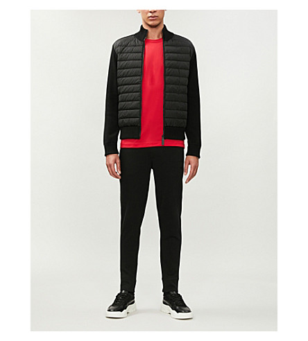 CANADA GOOSE Hybridge shell-down and wool jacket (Black