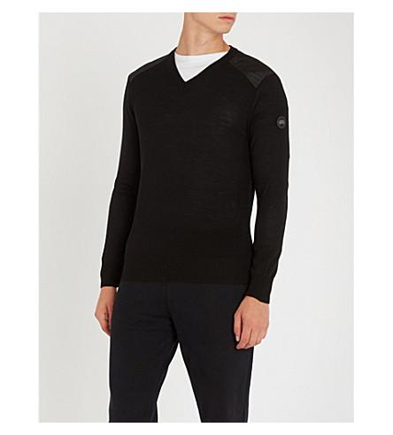 CANADA GOOSE McLeod V-neck wool jumper (Black