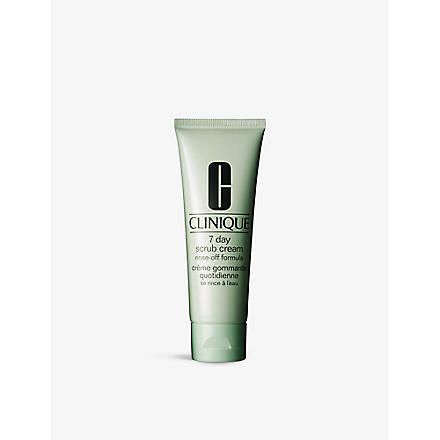 CLINIQUE 7 Day Scrub Cream Rinse–Off Formula for all skin types