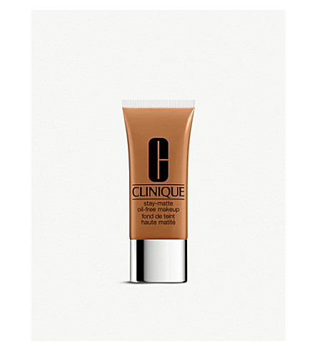 CLINIQUE Stay-Matte Oil-Free foundation (Caramel