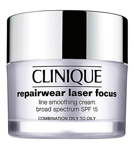 CLINIQUE Repairwear Laser Focus Night Line Smoothing cream for dry skin 50ml