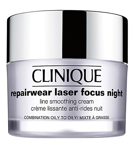 CLINIQUE Repairwear Laser Focus Night Line Smoothing cream for oily skin 50ml