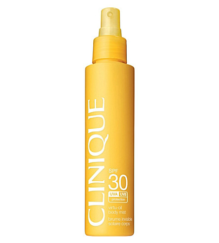 CLINIQUE Virtu-Oil SPF30 sunscreen body mist 144ml