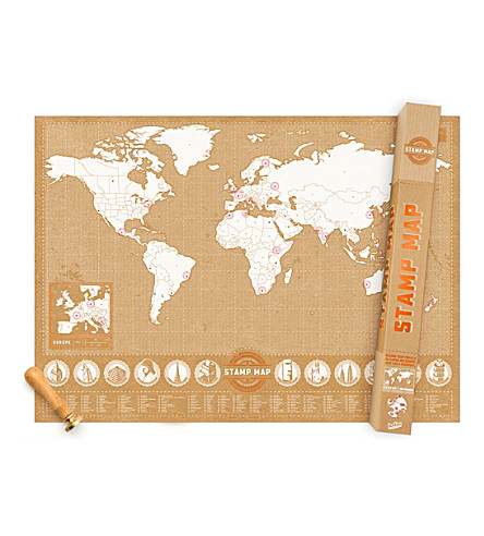LUCKIES OF LONDON Stamp foil map