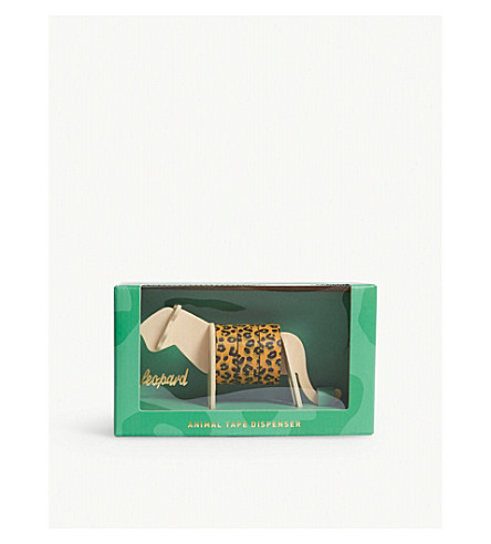 LUCKIES OF LONDON Leopard print washi tape and dispenser