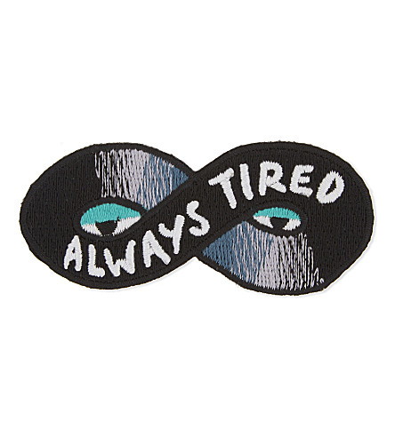 URBAN GRAPHIC Always tired iron-on patch