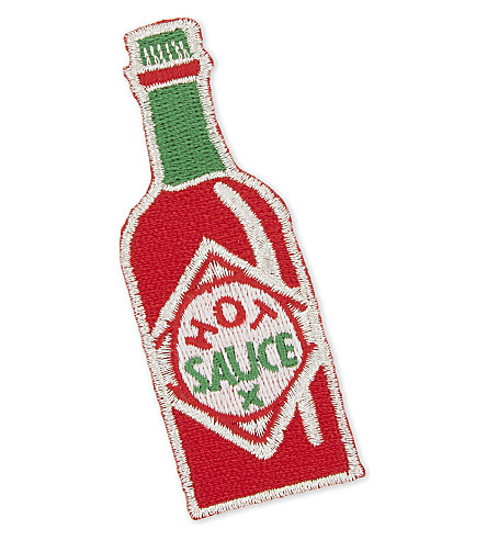 URBAN GRAPHIC Hot sauce iron-on patch