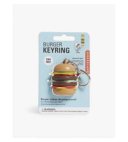 KIKKERLAND Burger belching keyring