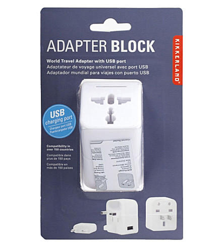 KIKKERLAND Travel adapter with usb