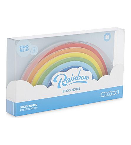 MUSTARD Rainbow sticky notes