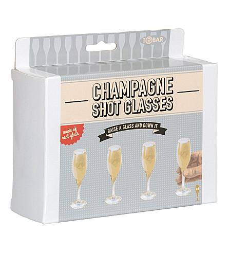 TOBAR Champagne shot glasses set of 4