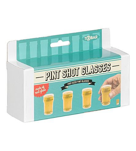 TOBAR Pint shot glasses set of 4