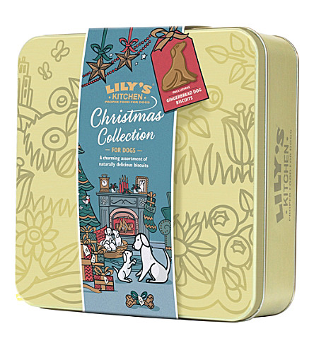 MISS SELFRIDGE Christmas biscuit selection tin for dogs