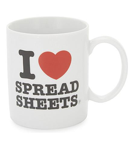 PALADONE I heart spreadsheets mug