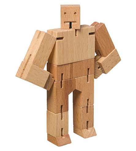 AREAWARE Cubebot wooden toy robot