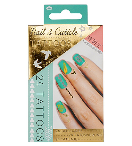 NPW Metallic nail & cuticle tattoos