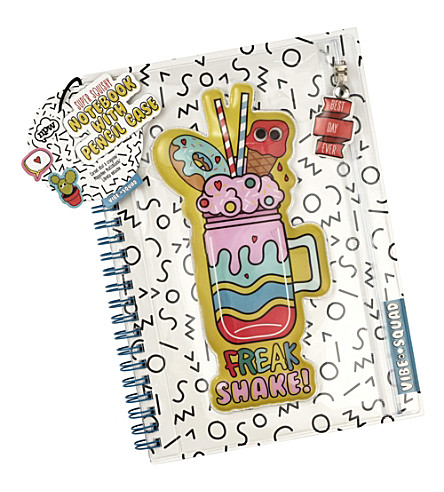 NPW Vibe squad pencil case notebook