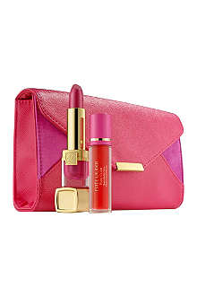 ESTEE LAUDER Breast Cancer Awareness Evelyn Lauder and Elizabeth Hurley Dream Lip Collection