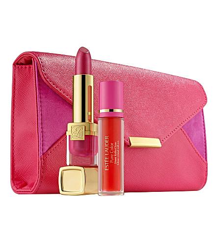 ESTEE LAUDER Breast Cancer Awareness Evelyn Lauder and Elizabeth Hurley Dream Lip Collection (Pink