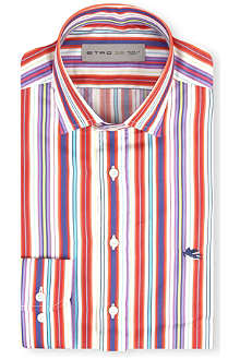 ETRO Striped regular-fit single cuff shirt