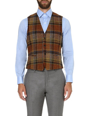 ETRO Checked wool waistcoat