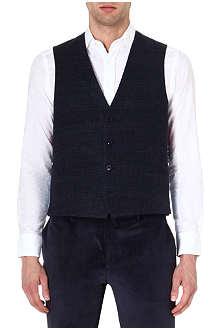 ETRO Contrast wool-blend waistcoat