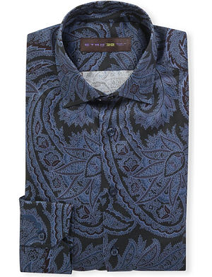 ETRO Paisley-print slim-fit single-cuff shirt