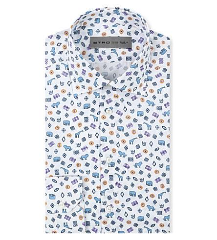 ETRO Animal print shirt (Blue