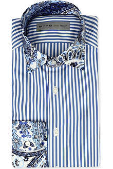 ETRO Striped slim-fit single-cuff shirt