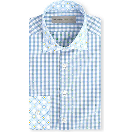 ETRO Gingham regular-fit shirt (Blue
