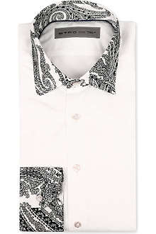 ETRO Paisley-panel slim-fit single-cuff shirt