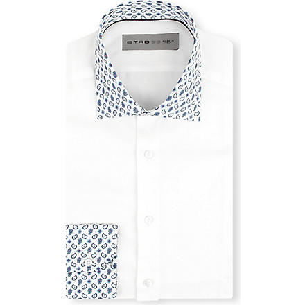ETRO Paisley collar shirt (White