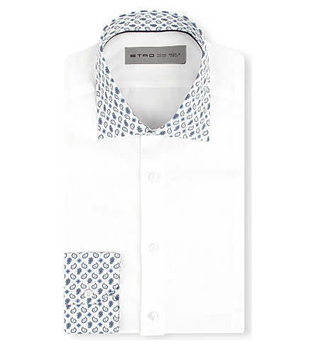 ETRO Paisley collar shirt (White