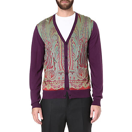 ETRO Paisley silk-blend cardigan (Purple