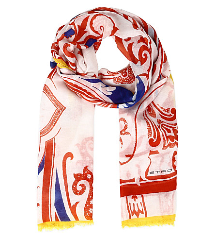 ETRO Patterned scarf (Red