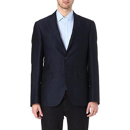 ETRO Linen-blend jacket (Blue