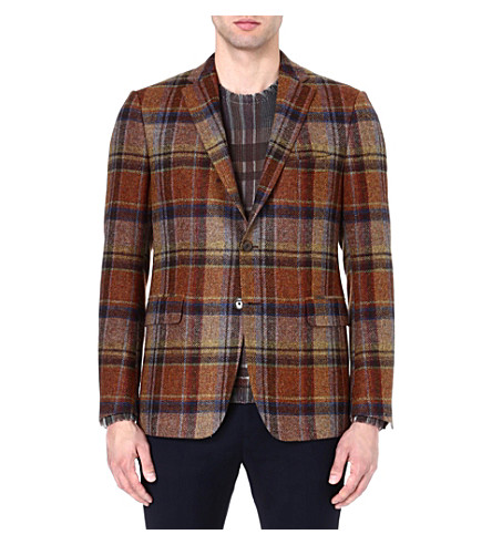 ETRO Prince of Wales check blazer (Rust