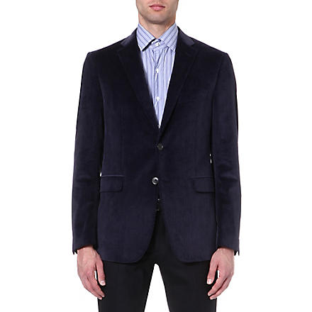 ETRO Single-breasted corduroy blazer (Navy