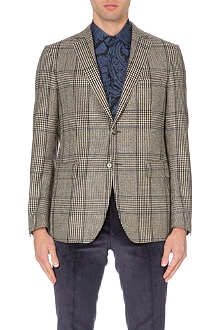 ETRO Prince of Wales checked wool and cashmere blazer