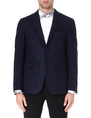 ETRO Check-print wool-blend jacket