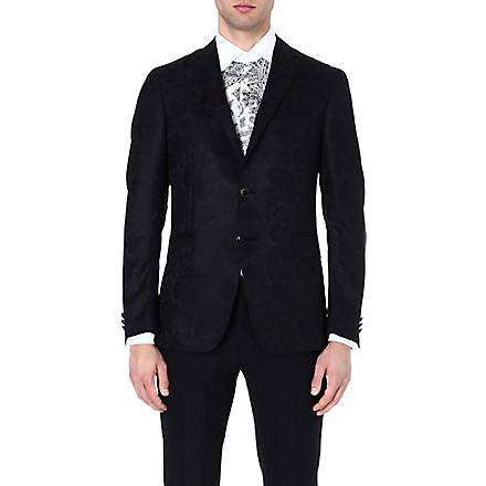 ETRO Paisley wool and silk-blend blazer (Black