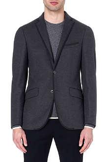 ETRO Grosgrain-trim wool blazer