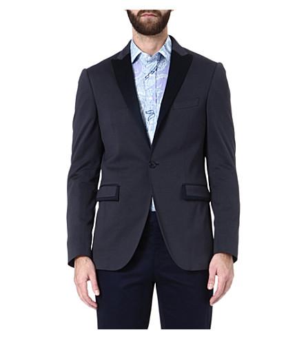 ETRO Cotton silk-detail jacket (Blue