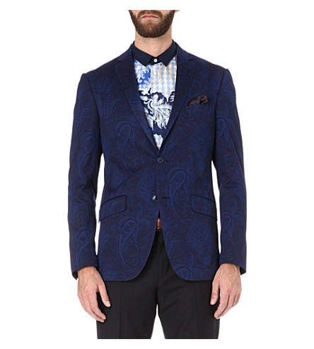 ETRO Paisley single-breasted blazer (Blue