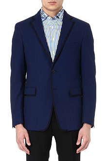 ETRO Contrast-trim cotton blazer