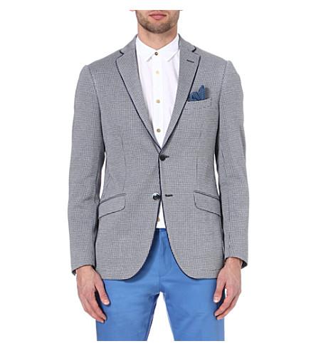 ETRO Dogtooth-print jacket (Blue