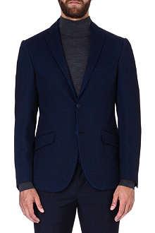 ETRO Contrast-trim wool-blend blazer