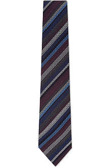 ETRO Textured stripe wool-silk tie