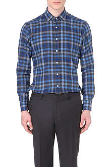 ETRO Checked regular-fit single-cuff shirt